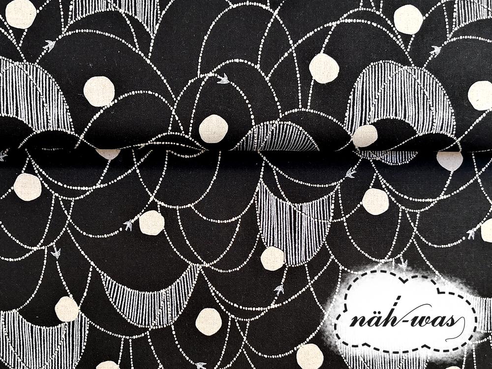 Kokka echino schwarz silber