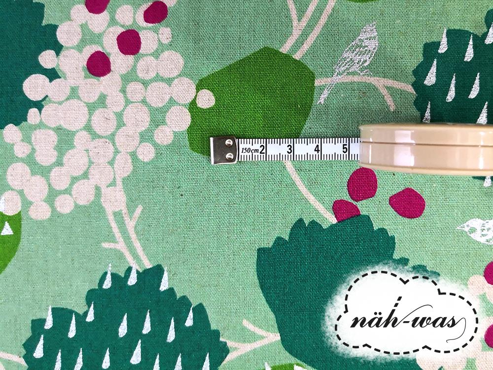 Kokka echino grün silber Baumwollstoff