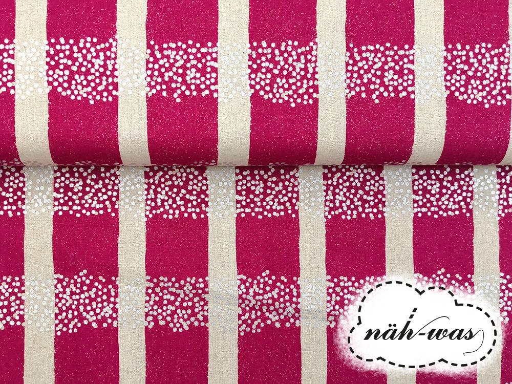 Kokka echino pink silber