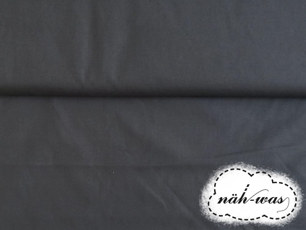 Uni Baumwollstoff dunkelgrau 050 2