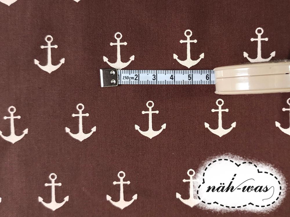 Anker Baumwollstoff Anchor braun 2