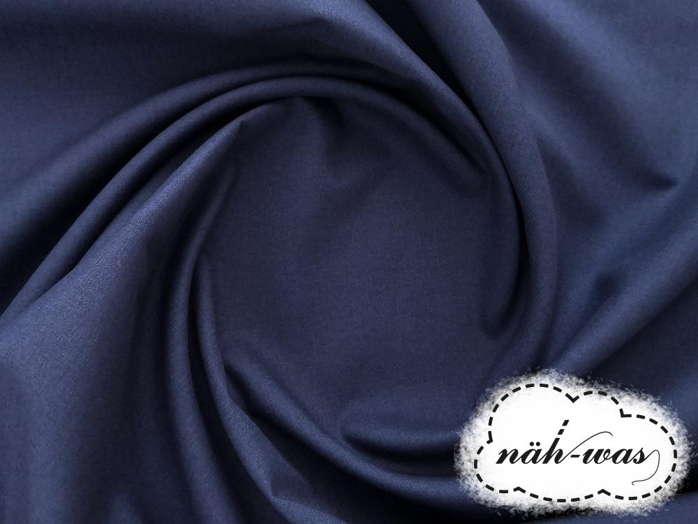 Uni Baumwollstoff dunkelblau 004