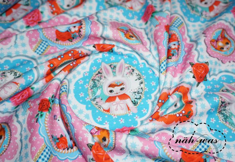 Bunny Years Jersey Stoff Kannichen