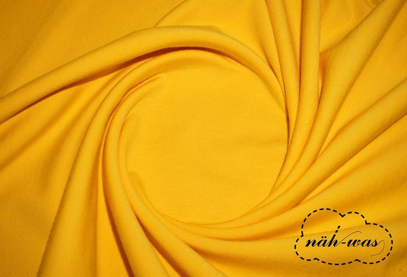 Jersey Stoff gelb Baumwolljersey
