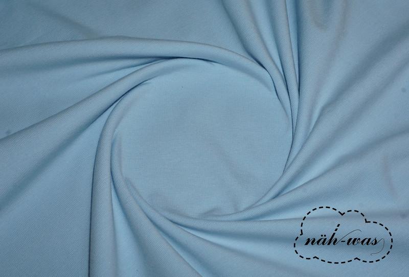 Jersey Stoff hellblau Baumwolljersey