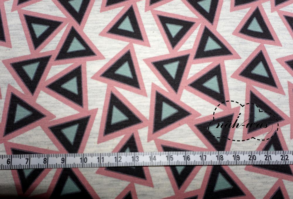 Triangle Jersey Stoff Dreiecke