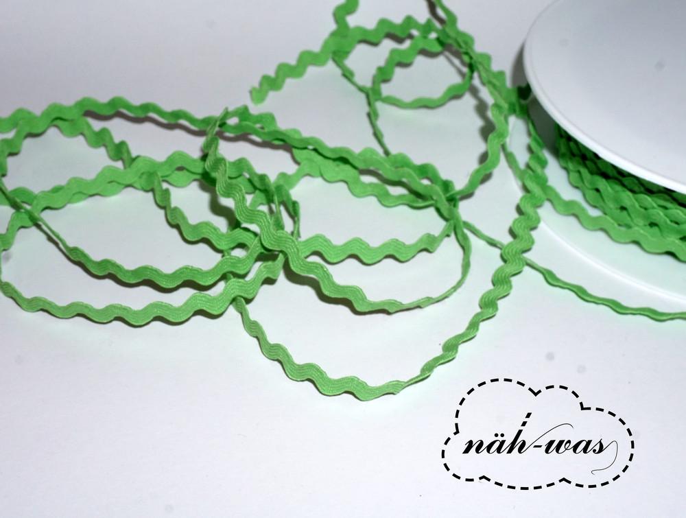 3m Zackenlitze Litze hellgrün