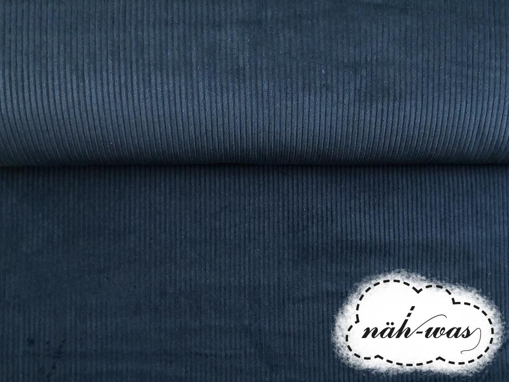 Breitcord Cord dunkles Jeansblau 2