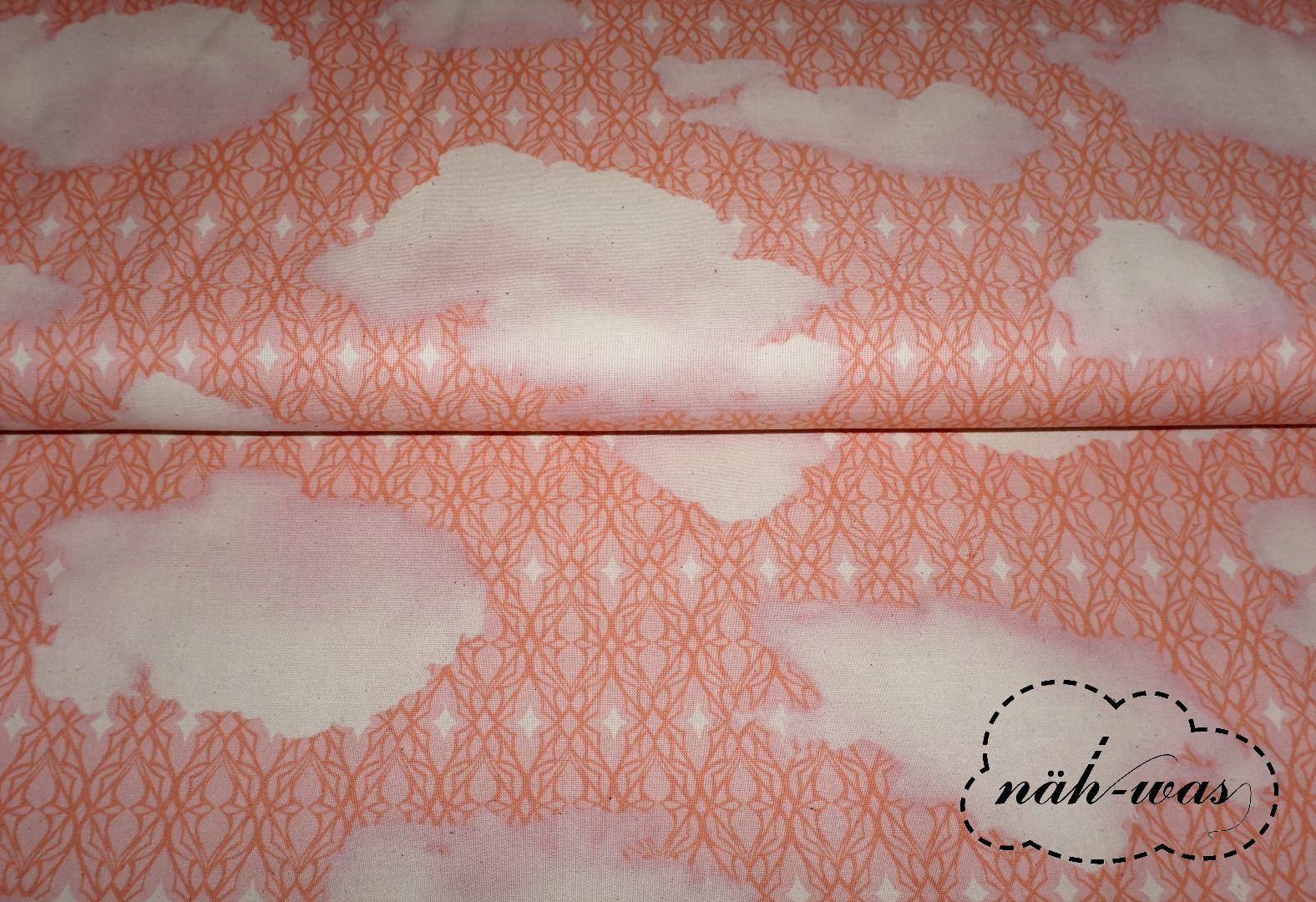 Cotton Steel rosa creme Baumwollstoff