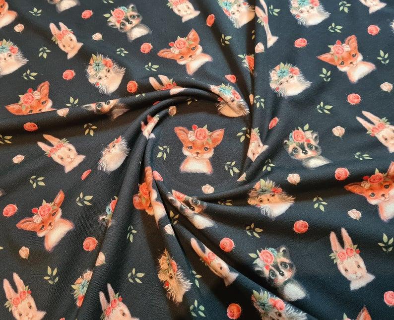 Waldtiere Jersey Fuchs Reh Jersey Igel