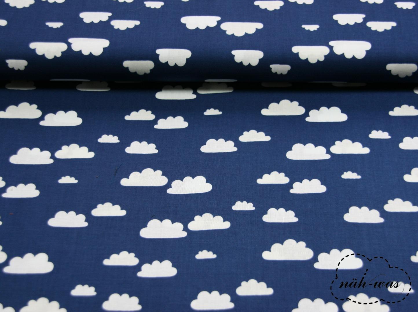Cotton Steel Wolken Baumwollstoff