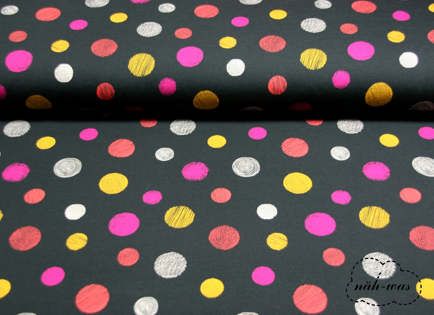 Punkte French Terry Dots Pünktchen