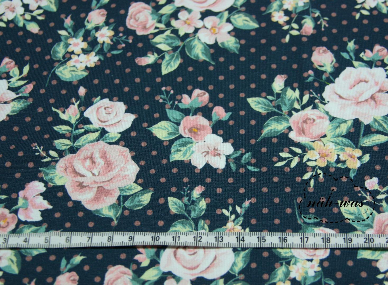 Blumen Jersey sweet Flowers Fräulein Julie
