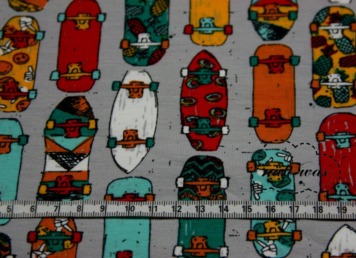Jersey Skateboard grau