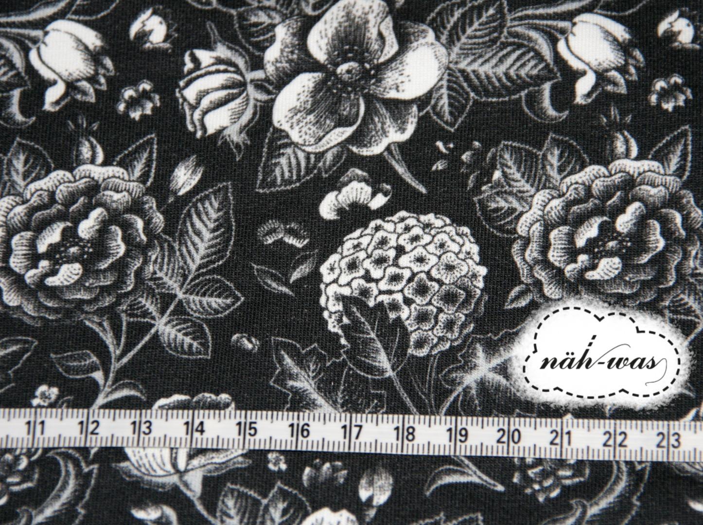 Blumen Sweat Flowers schwarz Fräulein von