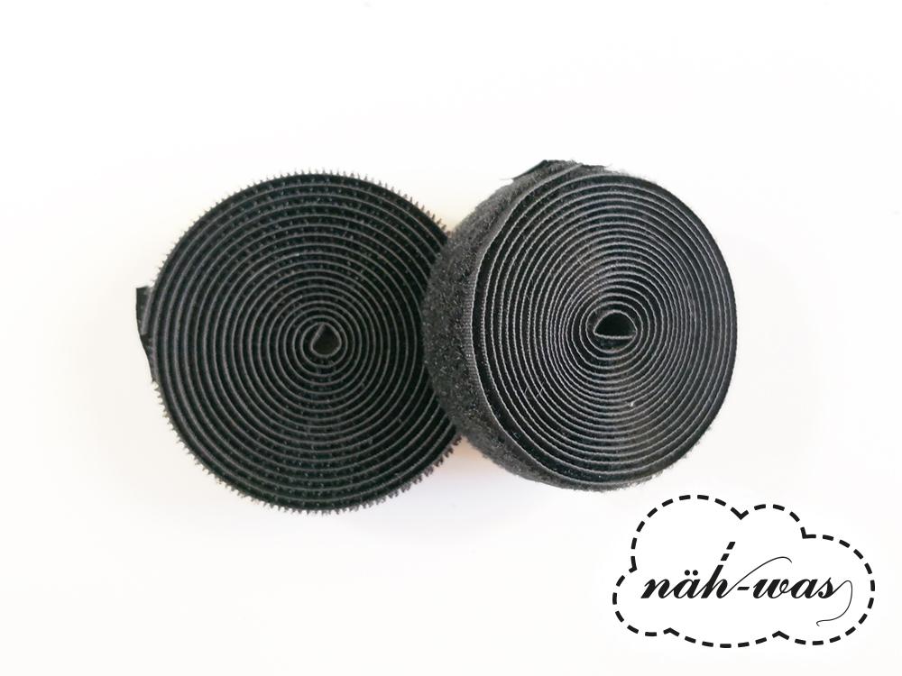 2m Klettband schwarz Klett