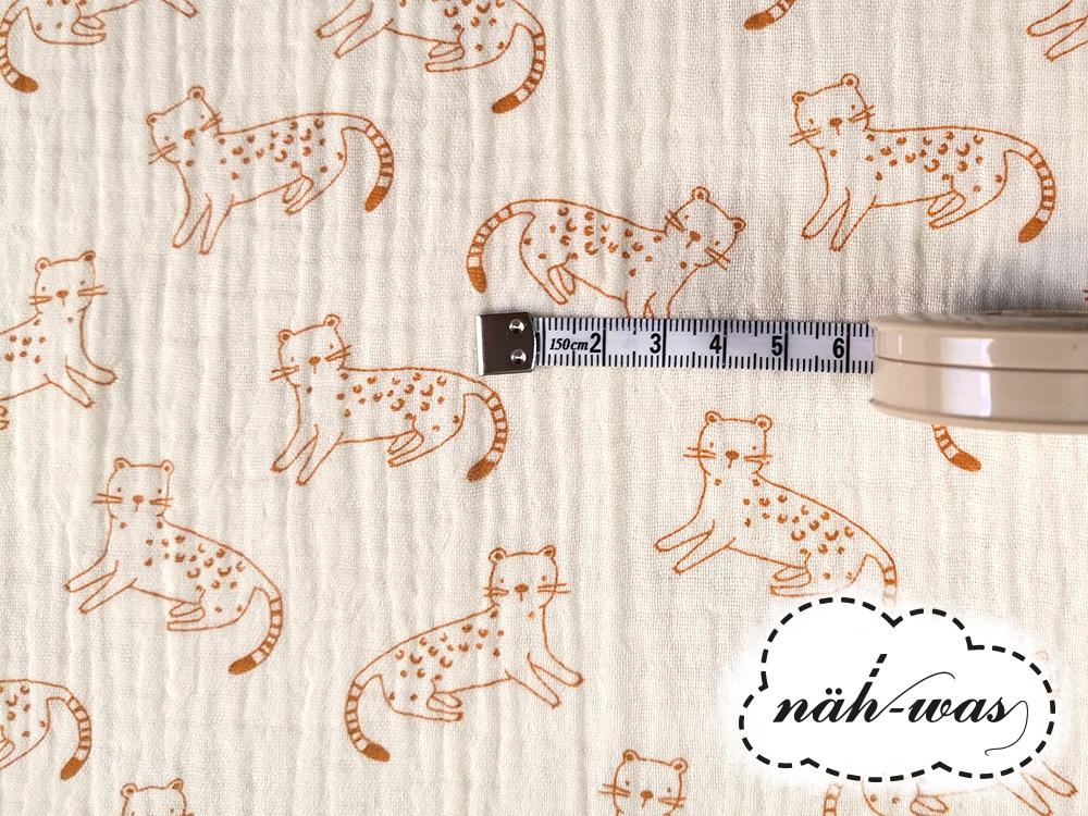 Musselin Leoparden creme 2