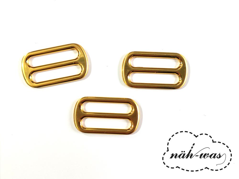 Schieber 25mm gold Zubehör Taschen