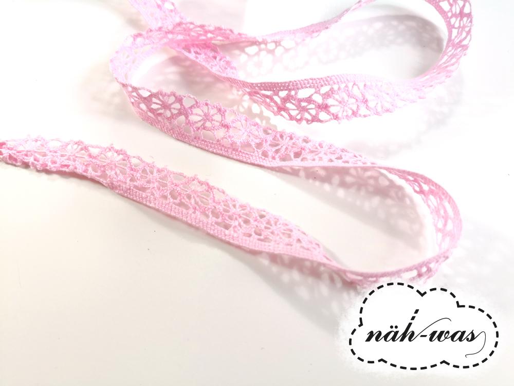 3m Spitzenband Spitzenborte rosa