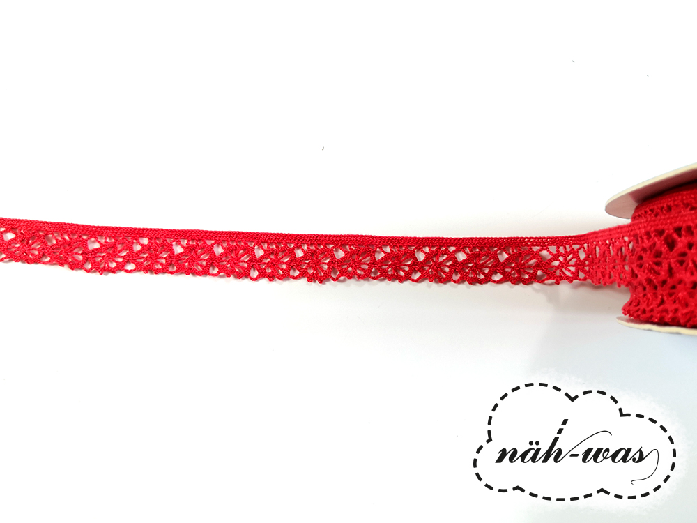 3m Spitzenband Spitzenborte rot