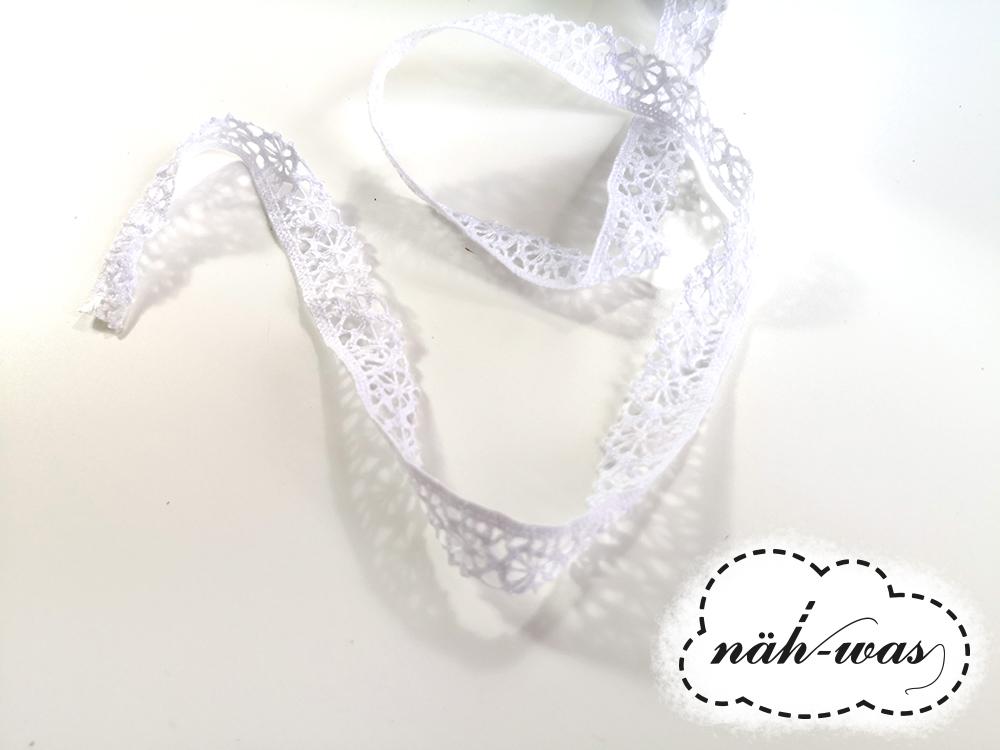 3m Spitzenband Spitzenborte weiß