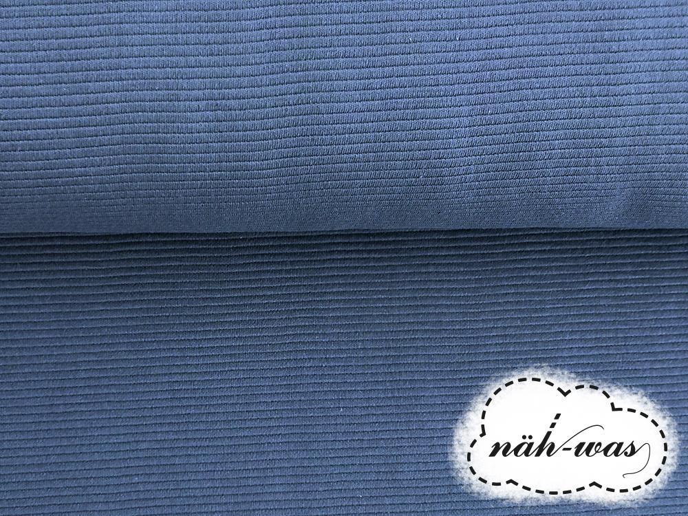 Sweat Ottoman Knitte jeansblau 2