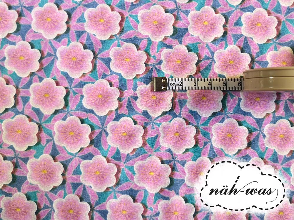 Retro Jersey Flowers Fräulein
