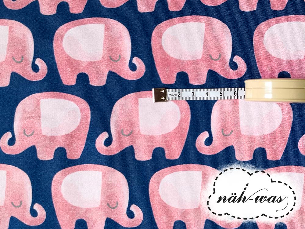 Elefanten French Terry dunkelbalu und