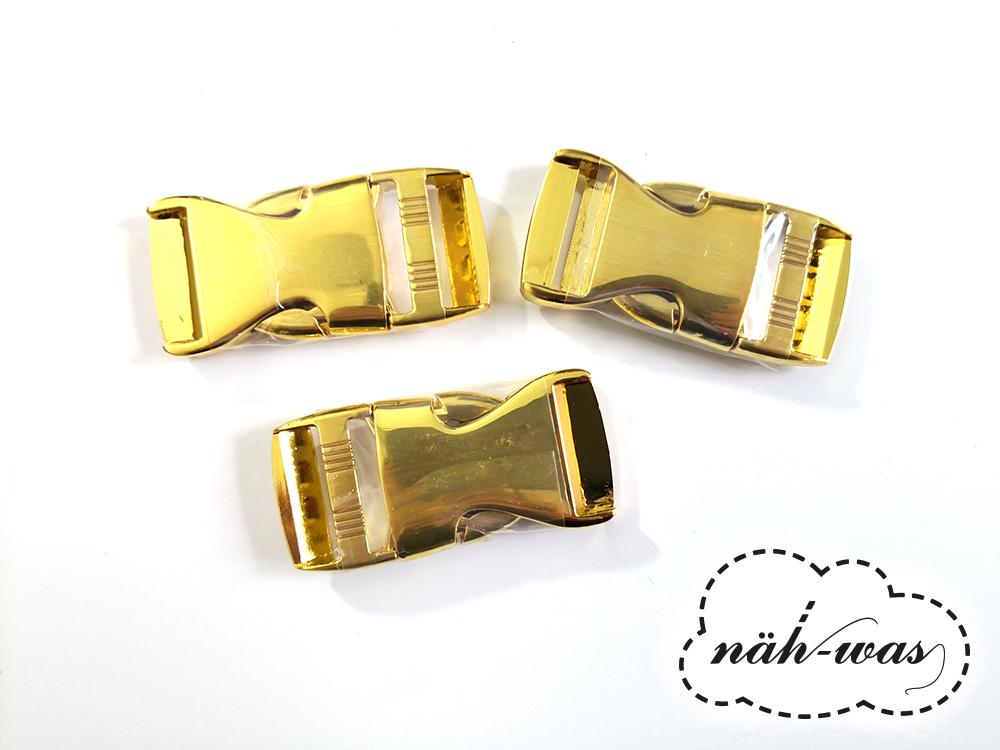 Schnalle Steckschnalle 25mm gold Zubehör