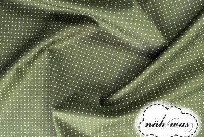Punkte Baumwollstoff Pünktchen grün