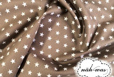 Sterne Baumwollstoff Sternchen beige