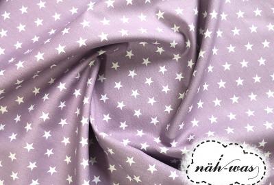 Sterne Baumwollstoff Sternchen flieder