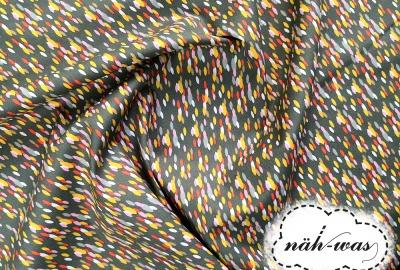 Muster Baumwollstoff Pünktchen Muster grün