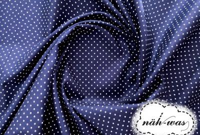 Punkte Baumwollstoff Pünktchen dunkelblau