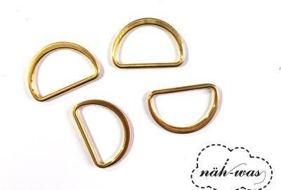 D-Ring 25mm gold Zubehör Taschen