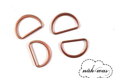 D-Ring 25mm rosegold Zubehör Taschen