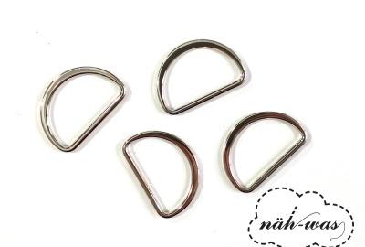 D-Ring 25mm silber Zubehör Taschen
