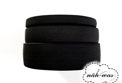 3m Gummiband schwarz 60mm