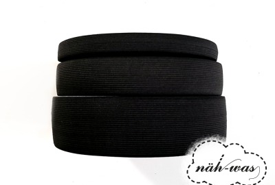 3m Gummiband schwarz 40mm
