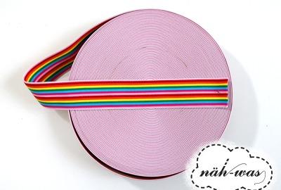 3m Gummiband Regenbogen 45cm