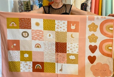 Baumwoll Panel Patchworkdecke Mobile