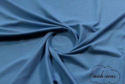 Jersey Stoff jeansblau Baumwolljersey