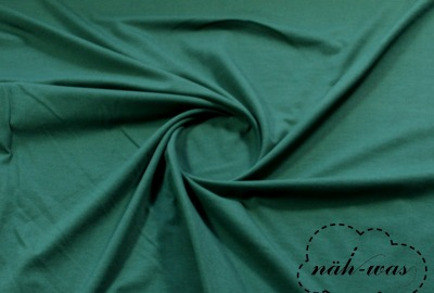 Jersey Stoff dunkelgrün Baumwolljersey