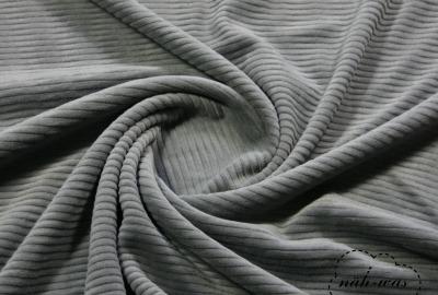Nicki-Breitcord Kuschelcord dehnbar grau