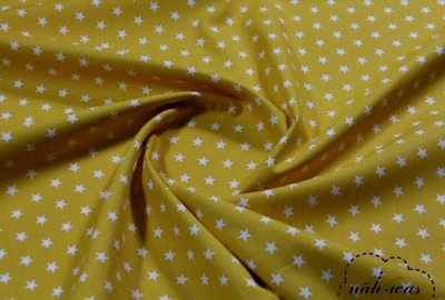 Sterne Baumwollstoff Sternchen senf gelb