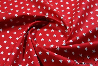 Sterne Baumwollstoff Sternchen rot