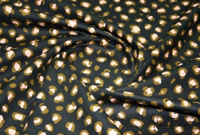 Leo Baumwollstoff schwarz Animalskin Leopardenmuster
