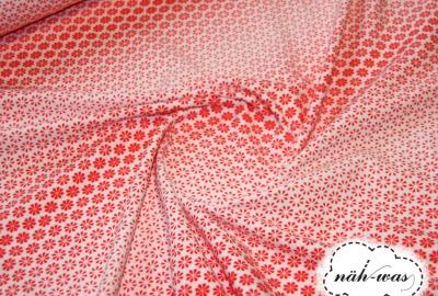 Blümchen Jersey Tante Ema weiß rot