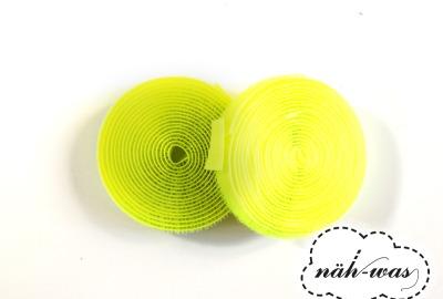 2m Klettband neon gelb
