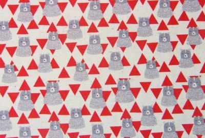KOKKA Bären Stoff fester Baumwollstoff Dreieck